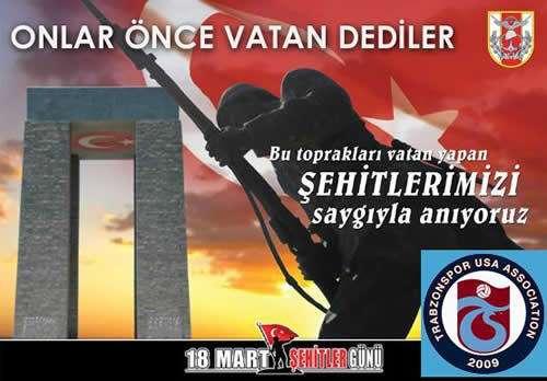 18 Mart Çanakkale Şehitleri Anma Mesajı