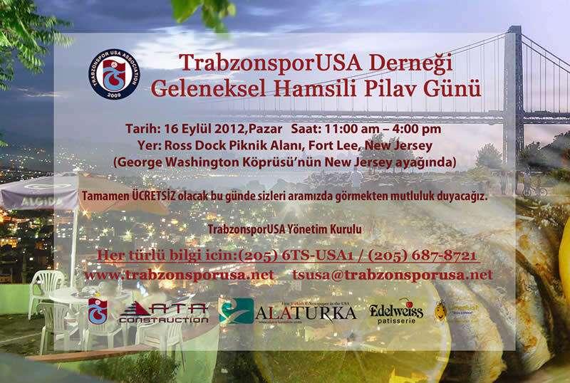 TrabzonsporUSA Geleneksel Hamsili Pilav Günü – New York